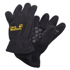 Jack Wolfskin Fleece Gloves Lapset, black